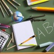 ABC school blackboard green board back to school — Stock Photo #5934804