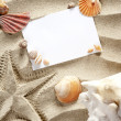 Royalty-Free Stock Photo: Copyspace blank space summer starfish sand shells