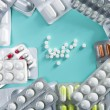 Blister medical pills background pharmaceutical — Stock Photo