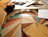 Architect interior designer workplace carpenter design — Stockfoto