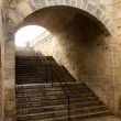 almudaina and majorca cathedral tunnel arches in palma — Stock Photo