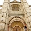 Cathedral of Majorca main door in Palma de Mallorca - Stock Photo