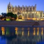 Cathedral of Majorca in Palma de Mallorca Balearic islands — Stock Photo