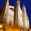 Cathedral of Majorca in Palma de Mallorca night — Stock Photo
