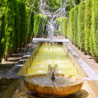 Fontaine of Hort del Rei gardens Palma de Mallorca - Stock Photo