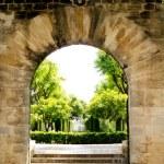 Arch entrance Hort del Rei gardens Palma de Mallorca — Stock Photo