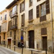 Palma de Mallorca old city Barrio Calatrava street — Stock Photo