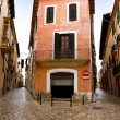Palma de Mallorca old city Barrio Calatrava street - Stock Photo