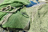 Fishing nets and tackle in Andratx port from mallorca — Stock Photo