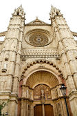 Cathedral of Majorca main door in Palma de Mallorca — Stock Photo