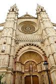 Catedral de la puerta principal de mallorca en palma de mallorca — Foto de Stock