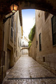 Arches of Barrio Calatrava Los Patios in Majorca at Palma — Stock Photo