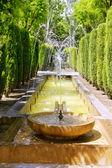 Fontaine of Hort del Rei gardens Palma de Mallorca — Stock Photo