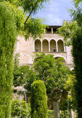 Almudaina castle in Palma de Majorca Balearic islands — Stock Photo