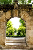 Arch entrance Hort del Rei gardens Palma de Mallorca — Stock Photo