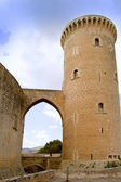Castle Castillo de Bellver in Majorca at Palma of Mallorca — Stock Photo