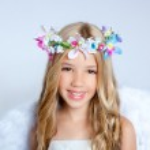 Angel children little girl portrait fashion white wings — Stock Photo #6213473