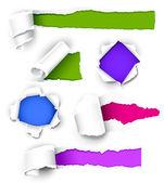 Samling av färgat papper — Stockvektor