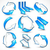 Blue arrows. Vector illustration — Stock Vector