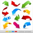 Collection of colour arrows - Stockvectorbeeld