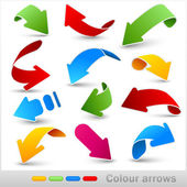 Collection of colour arrows — Stock Vector