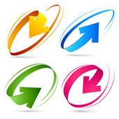 Collection of colour arrows — Stock Vector