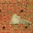Stock Photo: Decoratively brick wall