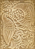 Embossed Ornament with Birds — Stock Photo