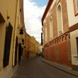 Empty narrow street in Vilnius oldtown — Stock Photo