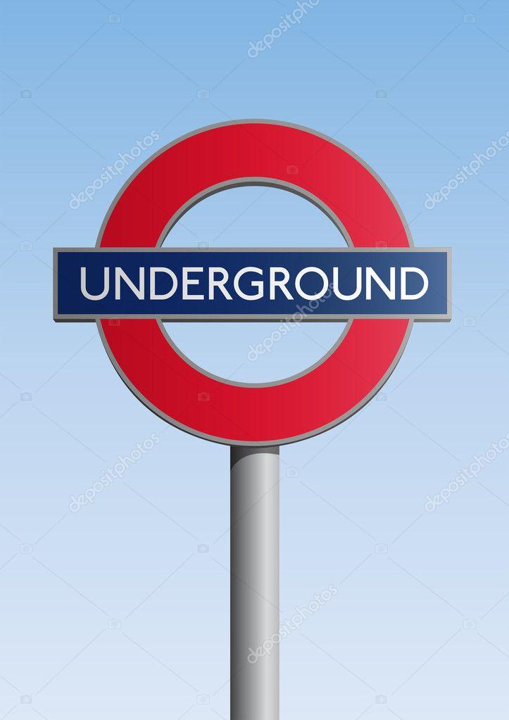Underground Vector Underground Sign — S...