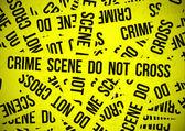 Crime scene do not cross — Stock Vector