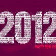 Happy New Year 2012 - Red - Stock Vector