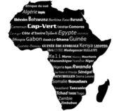 Afrika karta typograhpy — Stockfoto