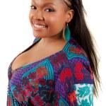 Beautiful African American woman smiling — Stock Photo