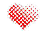Dotted valentine heart — Stock Photo