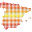 Royalty-Free Stock Photo: Spain dotted map