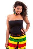 Beautiful african american teenage girl — Stock Photo