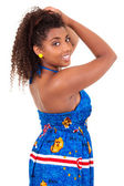 Beautiful african teenage girl wearing traditional clothes — Stock Photo