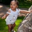 Stock Photo: Cute africamericbaby boy