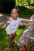 Cute african american baby boy — Stock Photo