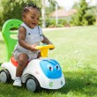 Adorable Little african american baby boy playing — Stock Photo