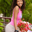 Beautiful african american woman — Stockfoto