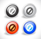 Color 3d buttons for web. — Stock Vector