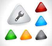 Pulsanti di colore 3d per il web. — Vettoriale Stock