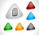 用于 web 颜色 3d 按钮. — 图库矢量图片