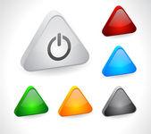 Farbtasten für Web 3d. — Stockvektor
