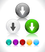 Lesklý abstraktní barevné skleněné koule. eps10 soubor. — Stock vektor