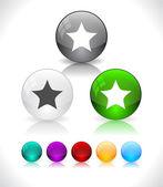 Bolas de cristal abstracto colorido brillante. eps10 archivo. — Vector de stock