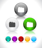 Glansiga färgglada abstrakt glaskulor. eps10 fil. — Stockvektor