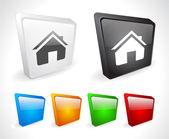 Kleur 3d-knoppen voor het web. — Stockvector